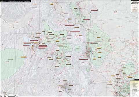 Rockies Infrastructure Wall Map