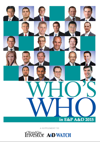 2015 Who's Who in E&P A&D Directory