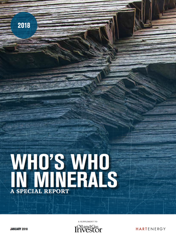 2018 Who's Who in Minerals