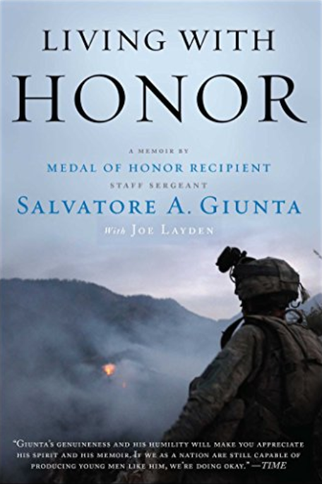 Military autographed book - Living with Honor by Salvatore A. Giunta