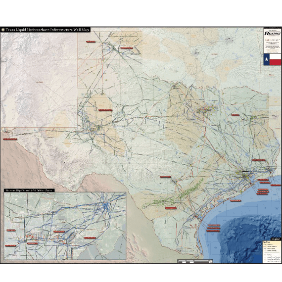 Texas liquids infrastructure map