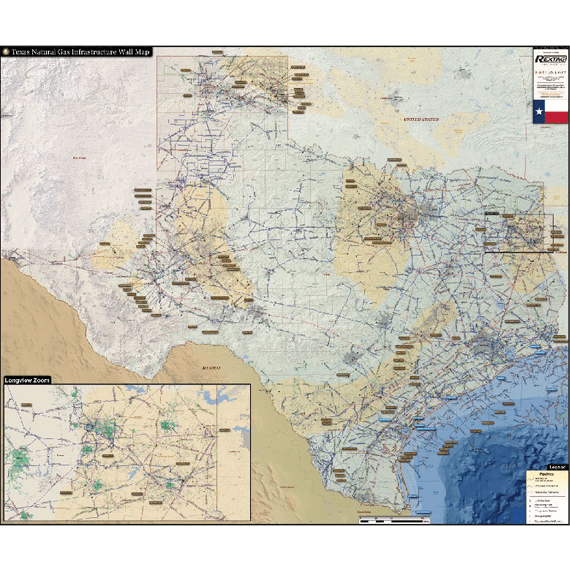 Texas natural gas infrastructure map