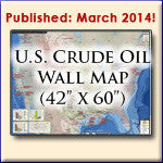 U.S. Crude Oil Pipelines and Infrastructure Wall Map