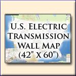 U. S. Electric Transmission and Power Plants Systems Wall Map