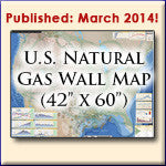 U.S. Natural Gas Pipelines Wall Map