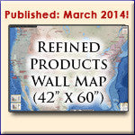 U.S. Petroleum Products Pipeline Wall Map
