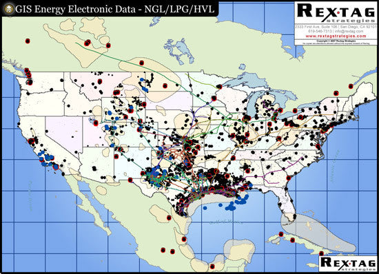 Liquid Products Pipeline GIS Map Data - North America