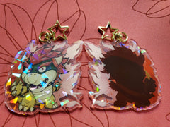 "3"" Bowser Holographic Acrylic Keychain"