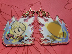 "3"" Lucas Holographic Acrylic Keychain"