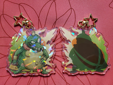 "3"" King K. Rool Holographic Acrylic Keychain"