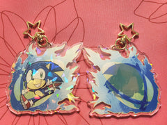 "3"" Sonic the Hedgehog Holographic Acrylic Keychain"