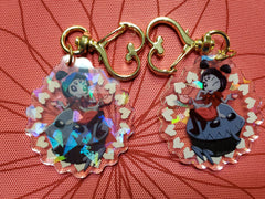 "2"" Double Sided Holographic Muffet Undertale Keychain"