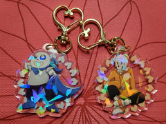 "2"" Double Sided Holographic UnderSwap AU Keychains"