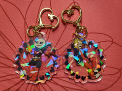 "2"" Double Sided Holographic SwapFell AU Keychains"