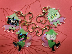 "2"" Double Sided Holographic Ralsei Deltarune Keychains"