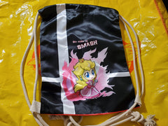 "17"" Peach Drawstring Bag"