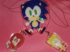 "3"" Team Sonic Linking Keychain"