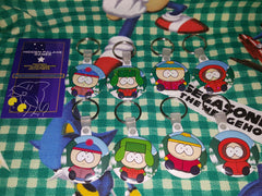 South Park Boys Normal and Sparkle Keychains