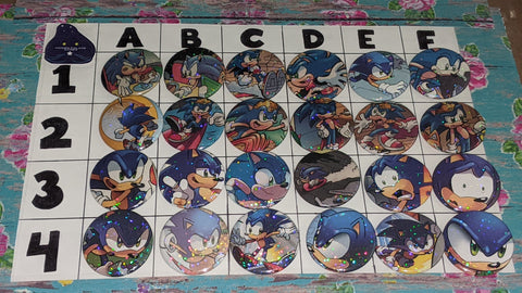"1.5"" Custom Sonic Upcycled Pinback Buttons A"