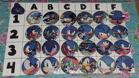 "1.5"" Custom Sonic Upcycled Pinback Buttons B"