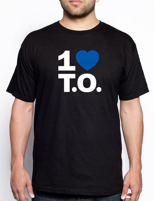 Men's Original Blue Heart / Black Tee