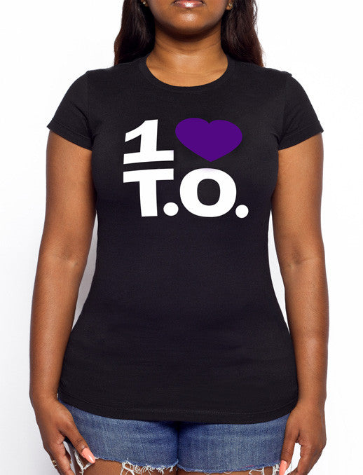 Women's Original Purple Heart / Black Tee
