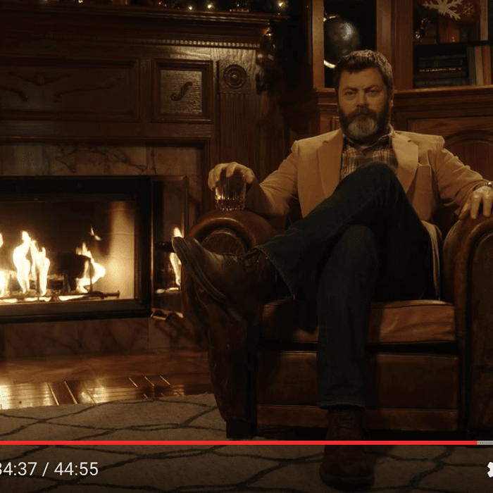 45-Minute Video of Sitting in Silence by a Cozy Fireplace