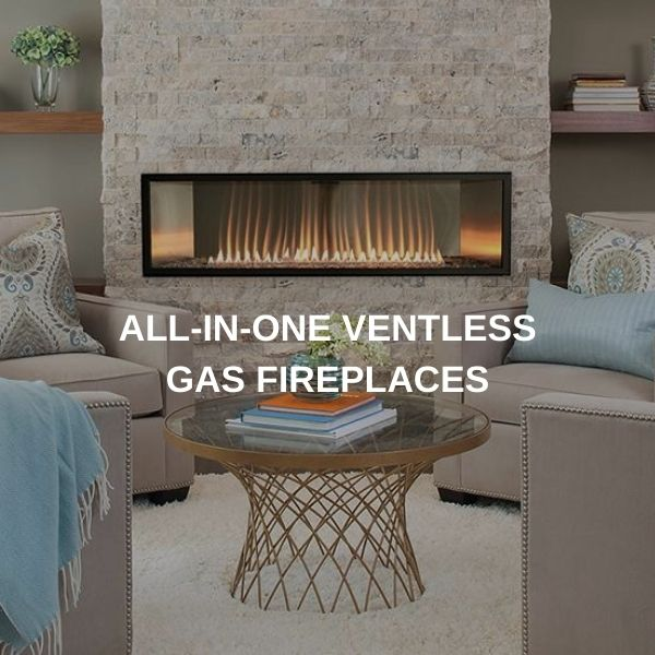 All-in-One Ventless Gas Fireplaces