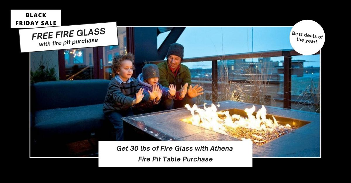 Free Fire Glass with Fire Table Purchase