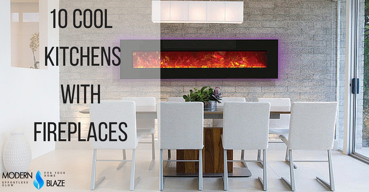 10 Cool Kitchens With  Fireplaces