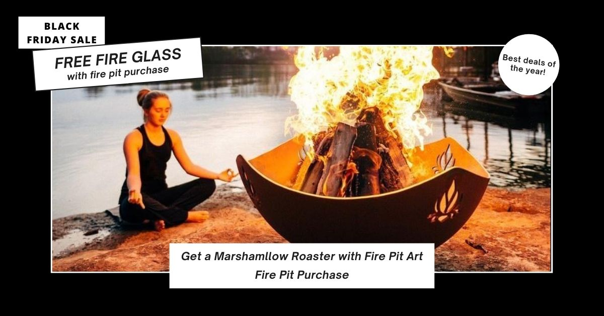 Free Marshmallow Roaster with Fire Pit Art Purchase