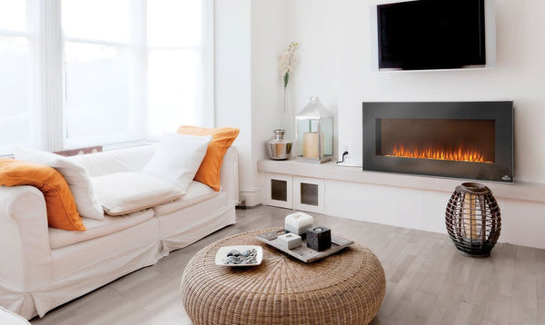 Wall Mounted Electric Fireplace Under TV