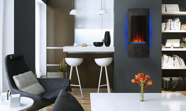 Small Electric Fireplace for Cozy Kitchen