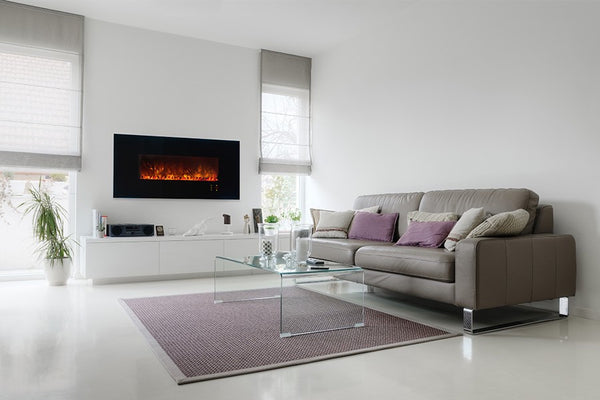 20 modern fireplaces that you can install yourself modern blaze modern electric fireplace in a living room solutioingenieria Images
