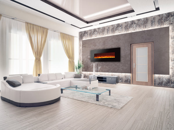 wall mounted electric fireplace ideas in living room - Electric Fireplace Design Ideas