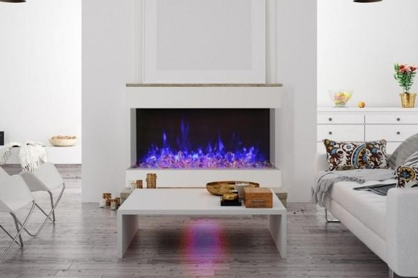 Amantii TRU-VIEW XT Indoor/Outdoor 3-Sided Electric Fireplace