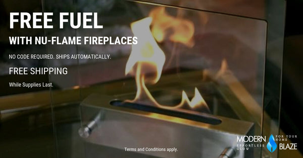 Free fuel with Nu-Flame Ethaol Fireplaces