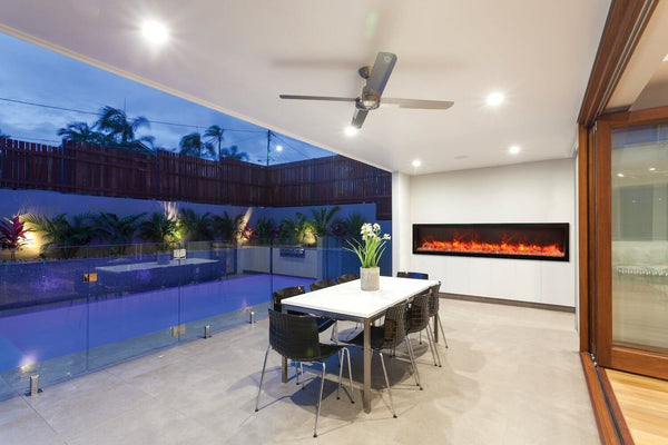 Can You Use An Electric Fireplace Outside Modern Blaze