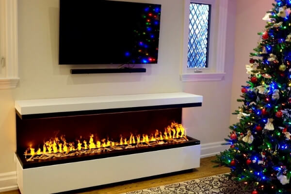 Linear Water Varpor Fireplace