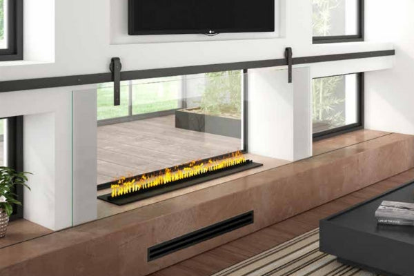 Dimplex Opti-Myst Fireplace with TV above