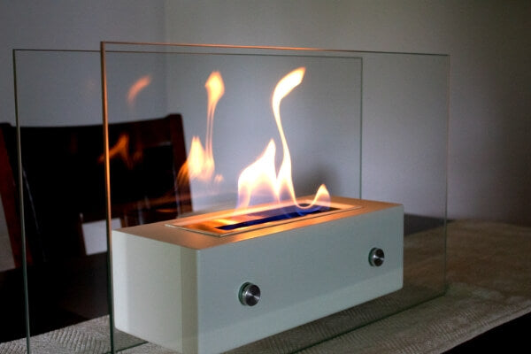 Classy tabletop fireplace