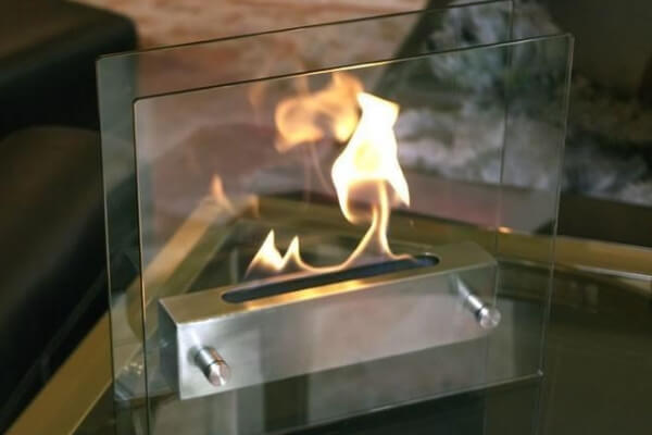 Nu-Flame Irradia Glass Table Top Ethanol Fireplace (NF-T2IRA)