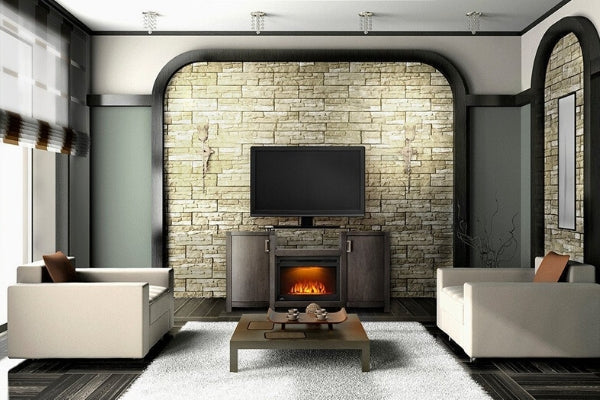 Electric Fireplace Mantels and TV Stands