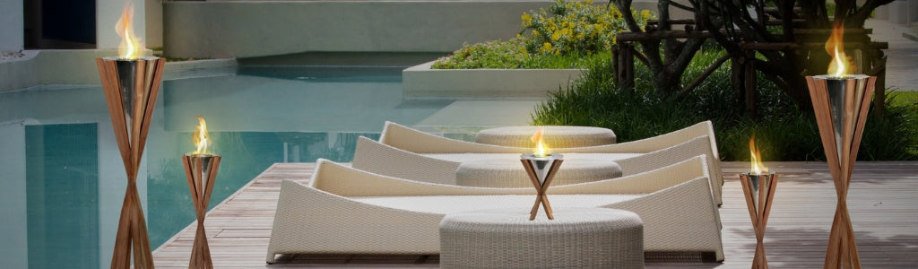 Modern Rustic Outdoor Fireplaces