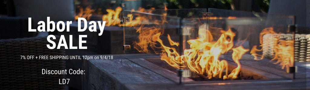 Labor Day Sale on Fire Pits, Outdoor Fireplaces and Patio Heaters