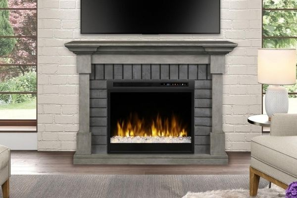 """Dimplex Royce 52"""" Electric Fireplace and Mantel Package"""
