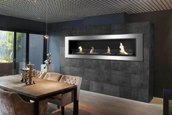 Photo: Built-in Ethanol Fireplace by Ignis