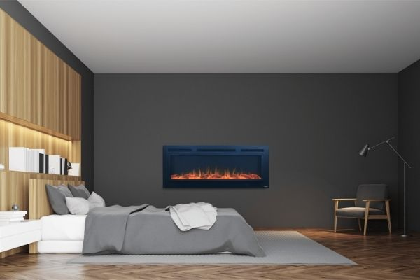 """Touchstone The Sideline Steel™ 50""""- Recessed Electric Fireplace"""