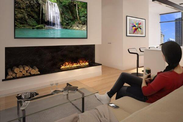 AFireWater Origin Smart Vapor Fireplace Cassette with Realistic 3D Flames