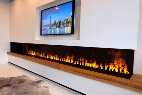 5 Most Realistic Electric Fireplaces New Water Vapor Technology Modern Blaze